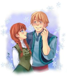 Anna and Kristoff Frozen -old by lince on DeviantArt