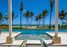 Caribbean view pool area, The Estates at Puntacana. Designed and built by Grupo Dupla, Dominican Republic. #dominicanrepublicrealestate,  #luxuryrealestate, #luxuryhomebuilder, #design, #architech