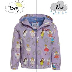 Holly&Beau Light Purple Color Changing Raincoat