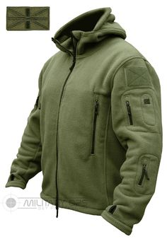 TACTICAL RECON HOODIE MILITARY FLEECE SPECIAL FORCES JACKET OLIVE GREEN ARMY SAS in Clothing, Shoes, Accessories, Men's Clothing, Coats, Jackets | eBay!