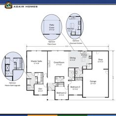 Adair Homes The Aspen 2686 Home Plan179384 in Impressions