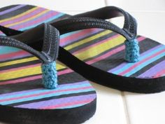 Flip Flop #crochet thong protectors... No more blisters between the toes!