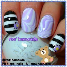 Water marble nails.  Striped nails. Purple nails #nails #nail #fashion #style #TagsForLikes #cute #beauty #beautiful #instagood #pretty #girl #girls #stylish #sparkles  #gliter #nailart #art  #photooftheday #love #shiny #polish #nailpolish #nailswag #nailartist #art #drawing #watermarble #marbling