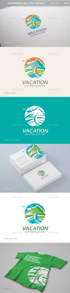 Vacation - Logo Design Template Vector #logotype Download it here: http://graphicriver.net/item/vacation-logo-template/13078218?s_rank=448?ref=nexion