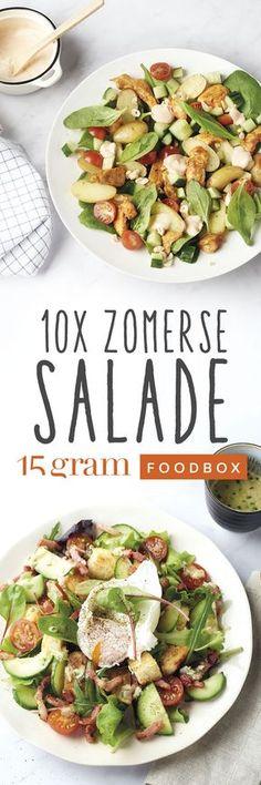 Jawel, vandaag begint de zomer officieel! En dat vieren we graag met onze favoriete zomerkost: een lekkere salade! Als het warm is, dan smaken frisse, rauwe groentjes eens te meer. Maar het geheim van een goede salade zijn de smaakmakers...