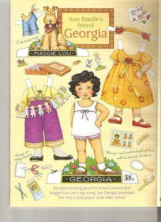 Ann Estelle Georgia paper doll