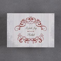 Woodland Chic Note Card and Envelope. Available at Persnickety Invitation Studio.