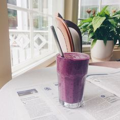 Blueberry Banana and Avocado Protein Smoothie - Perfect Pre or Post workout meal