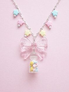 pastels.quenalbertini: Fairy Kei Lucky Star Jar Necklace