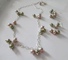 Bridesmaid pearl jewelry set Elegant pearl by HollyODesigns