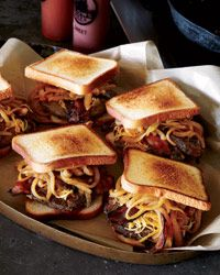 Smoked Gouda and Bacon Burgers with Barbecue Sauce Recipe