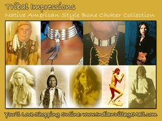 Tribal Impressions Bone Choker Collection. Review the line and learn Little History And The Importance Of Bone Chokers To Native Americans. http://www.indianvillagemall.com/bonechockers.html