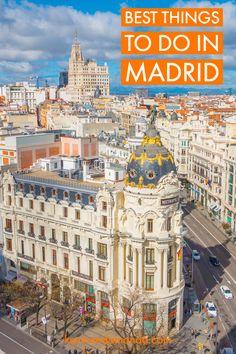 Week-end city break in Madrid, 117 Eu nopti cazare + bilete avion) Backpacking Spain, Madrid Travel, Spain Culture, Spain Travel Guide, Spain Holidays, Going On Holiday, Best Places To Travel, City Break, Holiday Travel