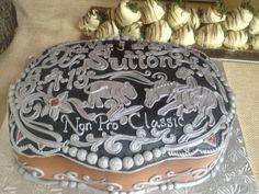 belt buckle sheet cake