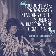 The Pool | Life - Today I'm Channelling Shirley Chisholm