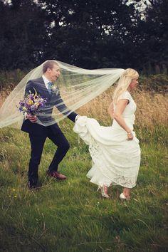 Wedding veil fun