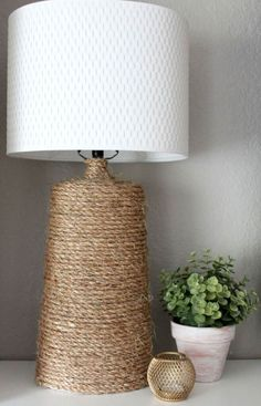 Wrap a Lamp with Rustic Rope