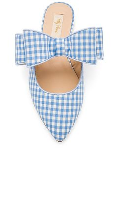 Polly Plume Kiki Bow Joe Le Taxi Slide in Baby Blue from Revolve.com 18a6ce9517