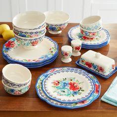 Dinnerware Sets Walmart, Casual Dinnerware Sets, Dinnerware Sets For 12, Classic Dinnerware, Dinnerware Ideas, Pioneer Woman Dishes, Pioneer Woman Kitchen, Pioneer Women, Mikasa Dinnerware