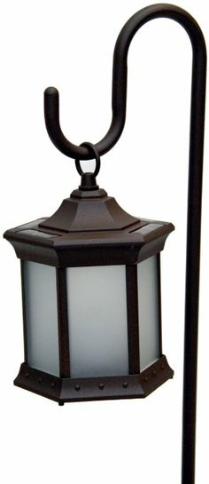 Amazon.com: Starlite Garden and Patio Torche Solar Lantern with Shepherds Hook in Frosted Glass: Furniture & Decor $50.75