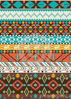 Seamless navajo geometric pattern by Tomuato, via Dreamstime