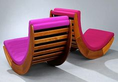 Verner Panton Relaxer 2 Chairs, 1974