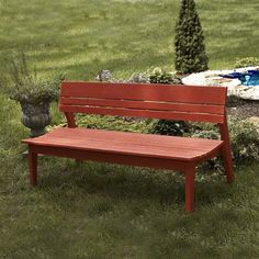 Uwharrie Behrens 4-Seat Outdoor Bench with Back - B074-030W
