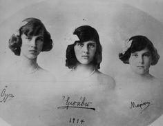 Olga, Elisabeth, and Marina of Greece