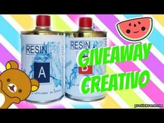 GIVEAWAY CREATIVO 6 VINCITORI!! Resin Pro - YouTube