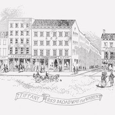 A sketch of the first Tiffany store in New York City.