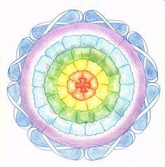 Mandala in pastel colors. Meditation.
