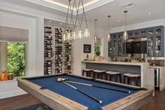 Beach style dream house in Florida flaunts phenomenal outdoor oasis #billiard #bar #gameroom Outdoor Cabana, Man Cave Room, Bar Games, Outdoor Entertaining, Home Accents, House Tours, Interior And Exterior, Oasis, Beach House