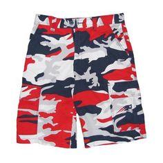 Patriots Camo Shorts-Navy/Red