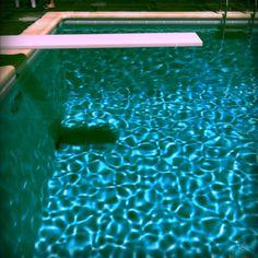 pink diving board - David Hockneyesque
