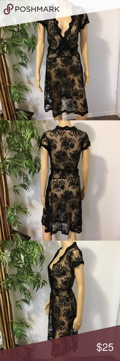 Lace Dress size M by Glam EUC gently worn Lace dress size M by Glam Made in USA 🇺🇸 Glam Dresses