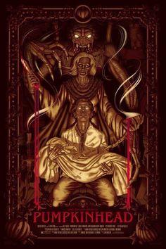 Pumpkinhead by Jay Gordon - Entertainment Horror Movie Characters, Horror Movie Posters, Cinema Posters, Movie Poster Art, Classic Horror Movies, Iconic Movies, 1980's Movies, Fantasy Monster, Monster Art