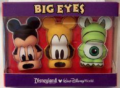 Disney Big Eyes Vinylmation Pin Set - Mickey Pluto Mike Wazowski New Disney Trading Pins, Disney Pins, Mickey Ears, Mickey Mouse, Disney Movies To Watch, Mike Wazowski, Disneyland Resort, Big Eyes, 3 D