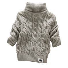 ffec15a86a5 Boys Girls Turtleneck with Beard Label Solid Baby Kids Sweaters Soft Warm  Sueter   Price