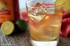 You only need 3 simple ingredients to create the classic, ginger beer stormy cocktail with fresh lime!
