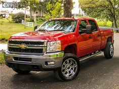 This 2011 Chevrolet Silverado 2500 HD is running XD Riot wheels Nitto tires with Stock Stock suspension. Gm Trucks, Chevy Trucks, Pickup Trucks, Tyre Fitting, Chevy Girl, Chevrolet Silverado 2500, Trucks And Girls, Wheels And Tires, Dream Cars