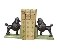 Cast Iron Gomez the Poodle Bookends | 55DowningStreet.com