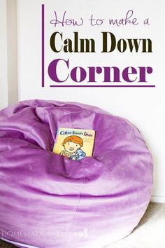 How to Make a Calm Down Corner | homemadeforelle.com I'll be trying this out with my almost 3-year-old! With her refusing to nap right now, the outbursts have increased and a calming corner is definitely in need. #motherhood #parentingtips #toddlerlife #tantrums