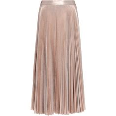 A.l.c. - Bobby Metallic Pleated Midi Skirt ($645) ❤ liked on Polyvore featuring skirts, bottoms, midi skirt, knee length pleated skirt, pleated midi skirts, mid-calf skirts and sexy slit skirt