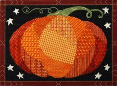 needlepoint patchwork pumpkin