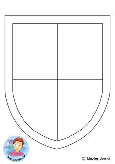 schild , kleuteridee, shield free printable, kindergarten knight theme k Knight Shield, Knight Art, Shield Template, Christmas To Do List, 17th Century Art, Jamie Hewlett, Dragon Crafts, Baby Drawing, Passion Project