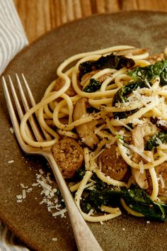 Kale, shiitakes and sausage bring a deep earthiness to this quick weeknight recipe, which David Latt shared with The Times in 2008 A meatless version is readily made: Lose the sausages, and use pasta water instead of stock.