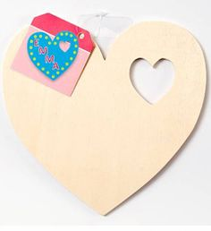 Plaid ® Wood Surfaces - Plaques - Heart    Size: Approx. 7-1/2""