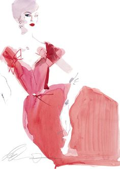 David Downton, fashion illustration, fashion, art, illustration, drawing, painting