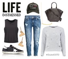 """Life Distressed"" by istyled ❤ liked on Polyvore featuring Nashelle, Gorjana, H&M, Boohoo, Alexander Wang, Golden Goose and Katydid Collection"