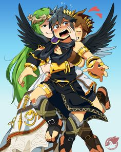 Kid Icarus Uprising- Palutena, Pit, And Dark Pit